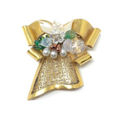 Louis Rousselet 1940s Vintage Bow Brooch