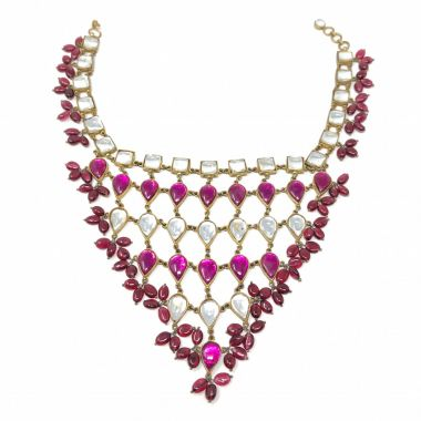 Kenneth Jay Lane 1960s Mughal Style Vintage Choker Necklace