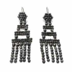 Georgian Early 1800s Cut Steel Antique Tassel Earrings