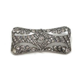 1930s Art Deco Silver and Paste Vintage Brooch