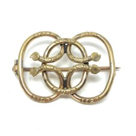 Victorian Gold Filled Antique Love Knot Brooch