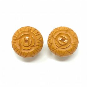 1930s Orange Bakelite Vintage Earrings