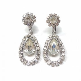 Napier 1950s Rhinestone Vintage Earrings